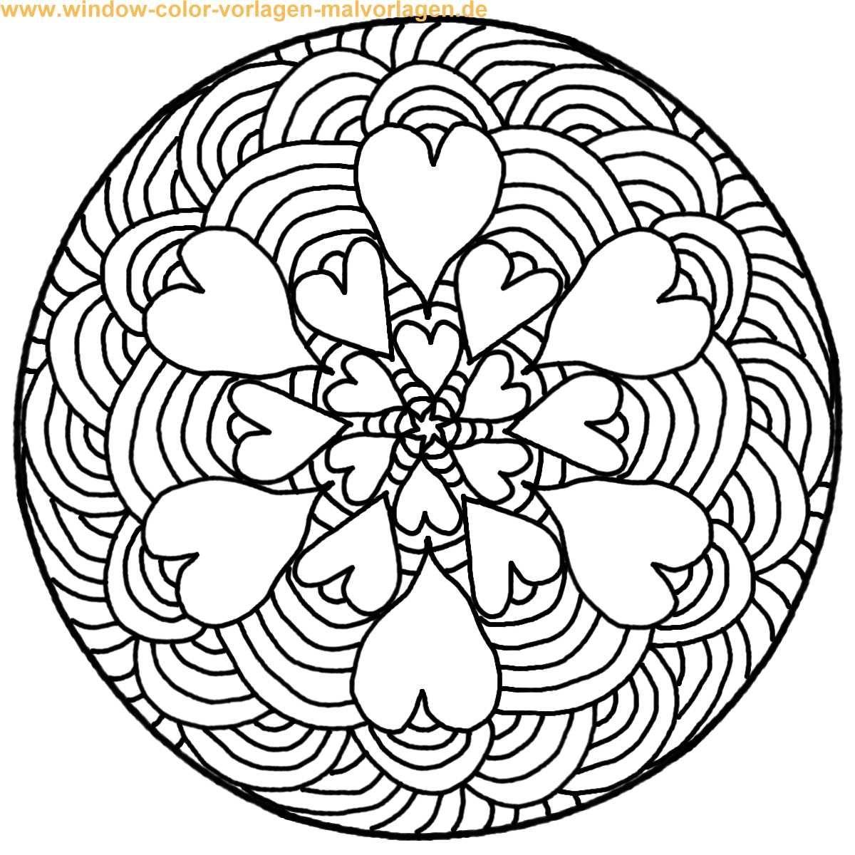 Malvorlage Ausmalbild Mandala zum ausdrucken und zum
