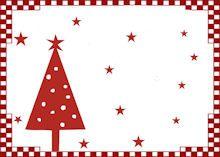 Marque Place Noel Nouvel An Bordure Rouge Sapin Toiles