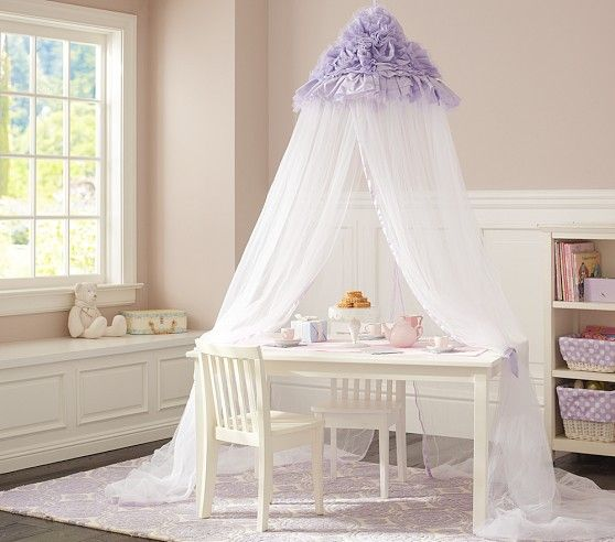 pottery barn oversized anywhere chair wooden dining chairs johannesburg lavender ruffle canopy | kids isabella's big girl room pinterest canopy, ...