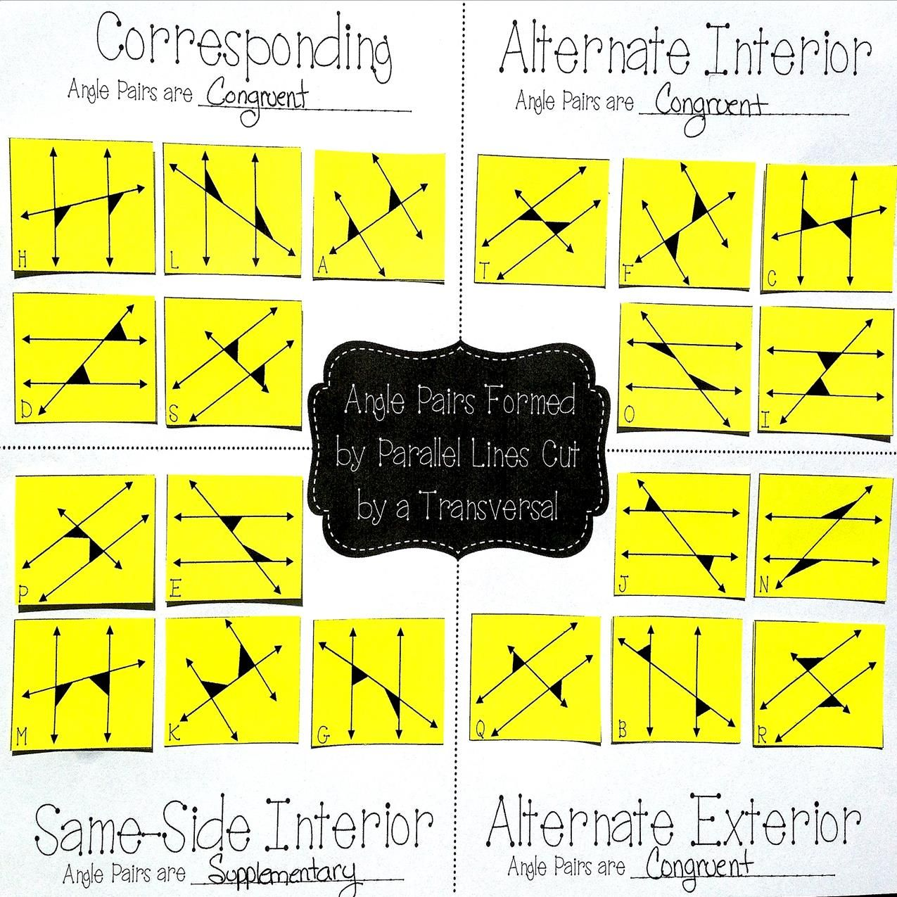 Free Great Practice For My 8th Grade Math Amp Geometry Students Sorting Angles Created By