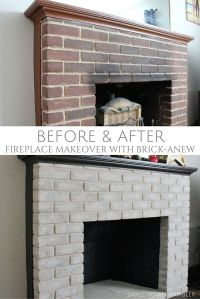Fireplace Makeover: Painting the Firebox and Mantel ...