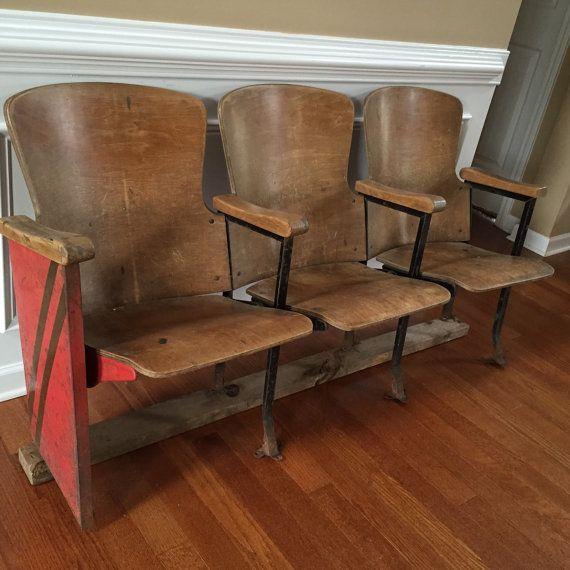 Vintage Folding Cinema Movie Theater Seats Home Theater