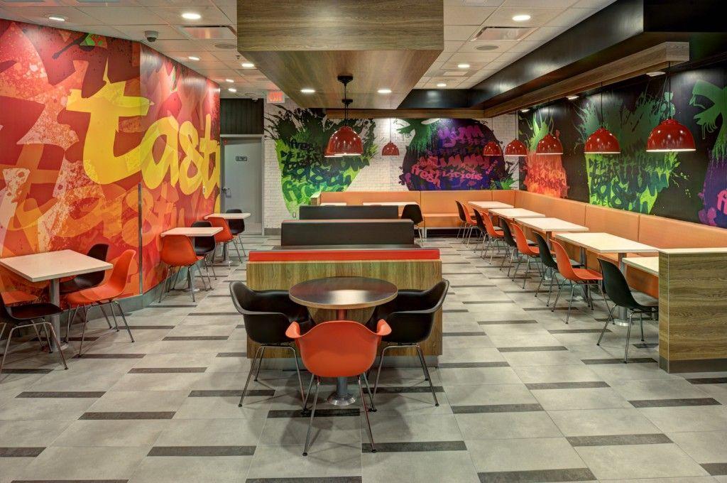 Fast food restaurant decorating ideas  Wall  Pinterest