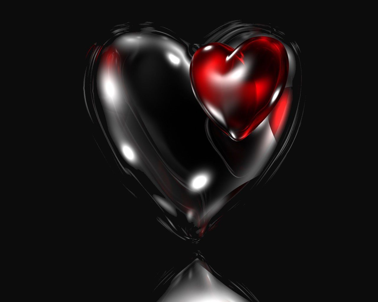 sweet heart, 3d, abstract, black, dark, heart, love | ღ~ i
