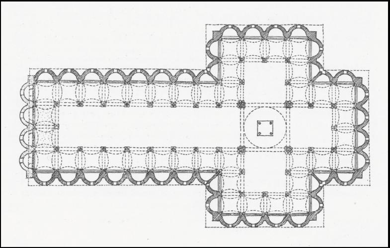 plan of Santo Spirito, Florence, begun 1435 / Brunelleschi