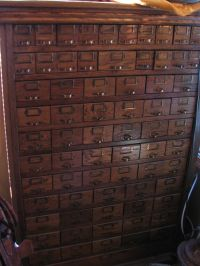 Antique Nuts Bolts Hardware Apothecary Cabinet 70 Drawer ...