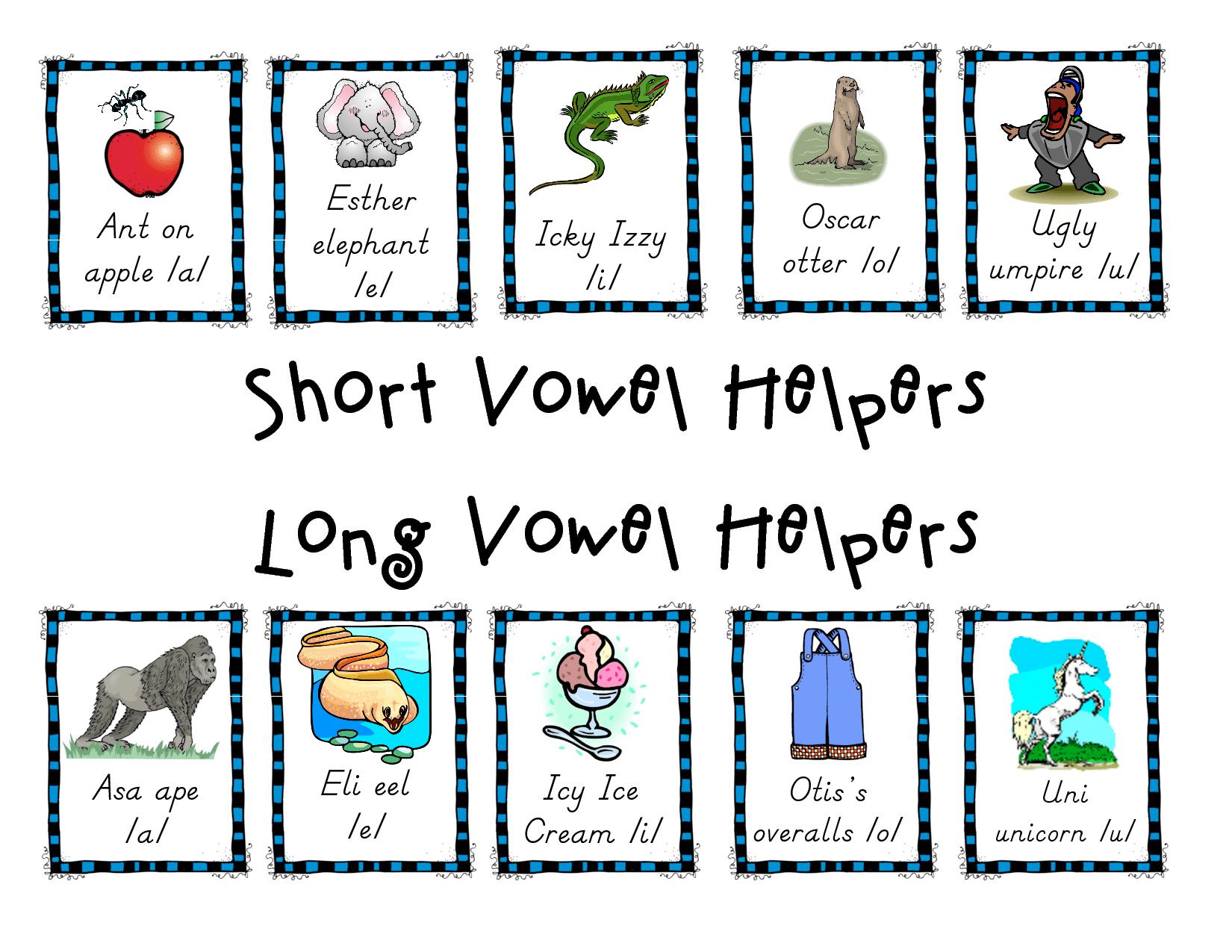 Otter O Umpire U E Short Vowel Helpers Long Vowel