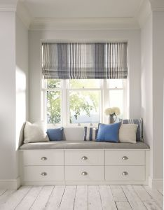 The ultimate serene coastal window seat also fitted bedroom furniture is used to create an elegant but cosy rh uk pinterest