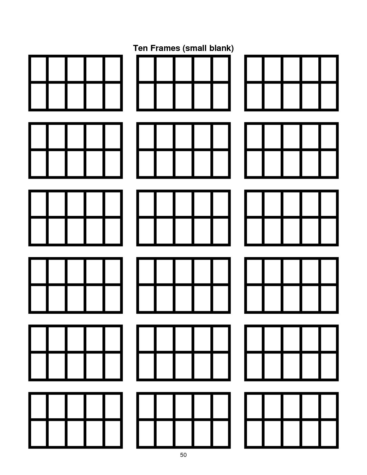 Ten Frame Template Printable