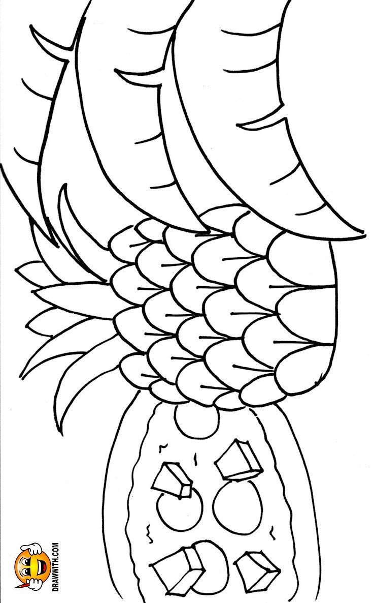 Free Pineapple Pizza Coloring Pages For Kids Which Includes A