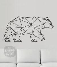Geometric Bear Wall Decal, Geometric Animals Decor Bear ...