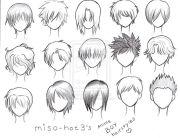 anime boy hair manga