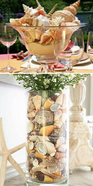 Wedding Table Decorations Seaside Theme