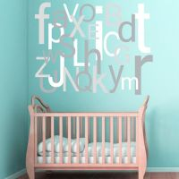 Alphabet Wall Decal. Large oversized nursery wall decal ...