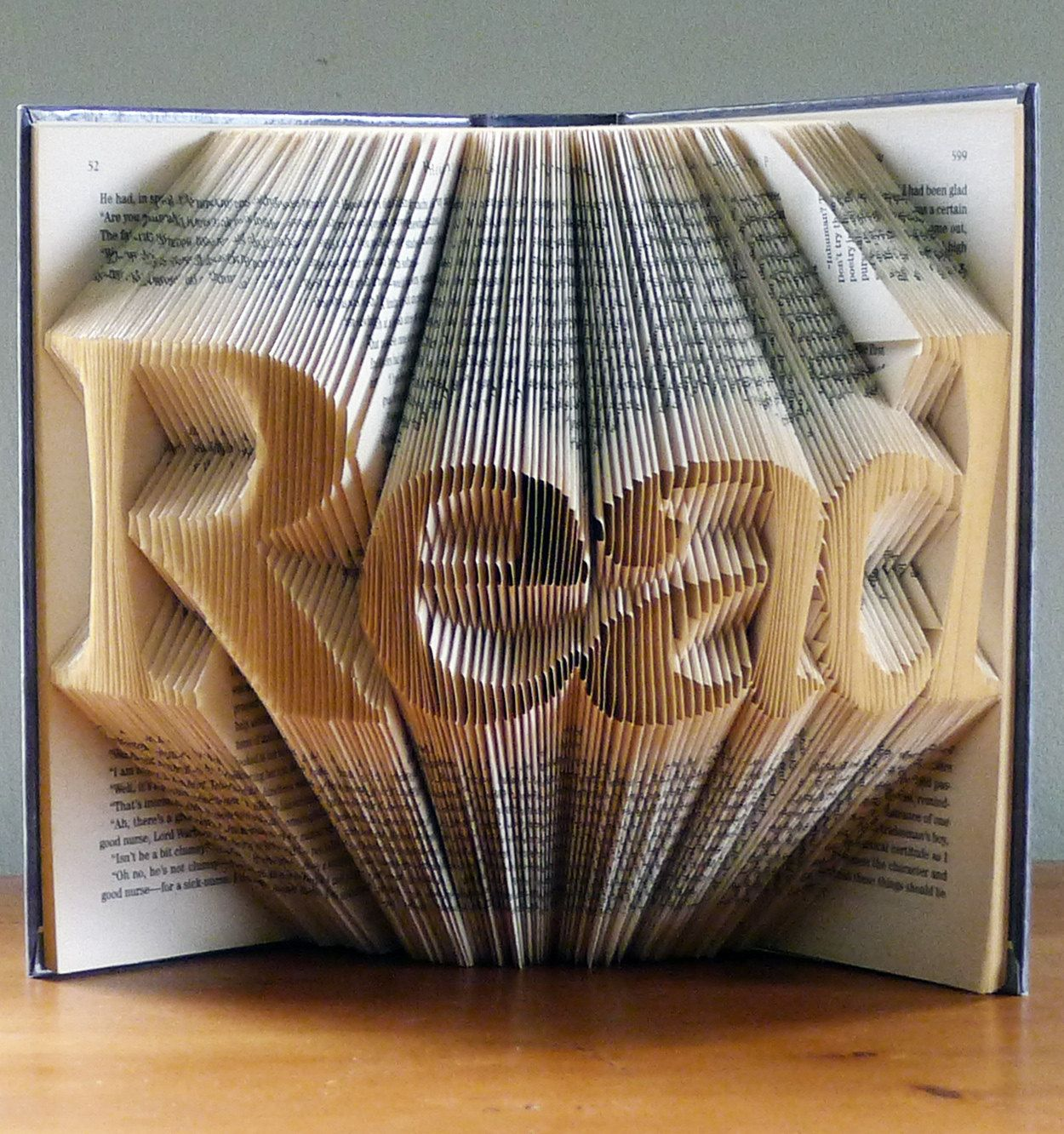 Folded Book Sculpture READ Home Decor Gifts For Book Lovers