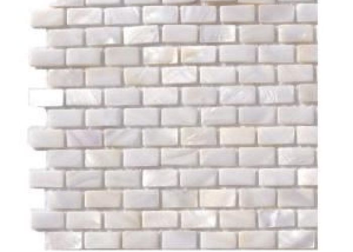 Splashback tile pitzy brick castel del monte white pearl mini pattern floor and wall in  mm sample also mother of