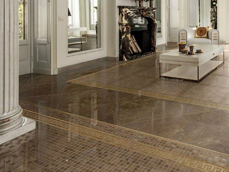 Glazed stoneware flooring with marble effect MARBLE by Versace Ceramics by Gardenia Orchidea