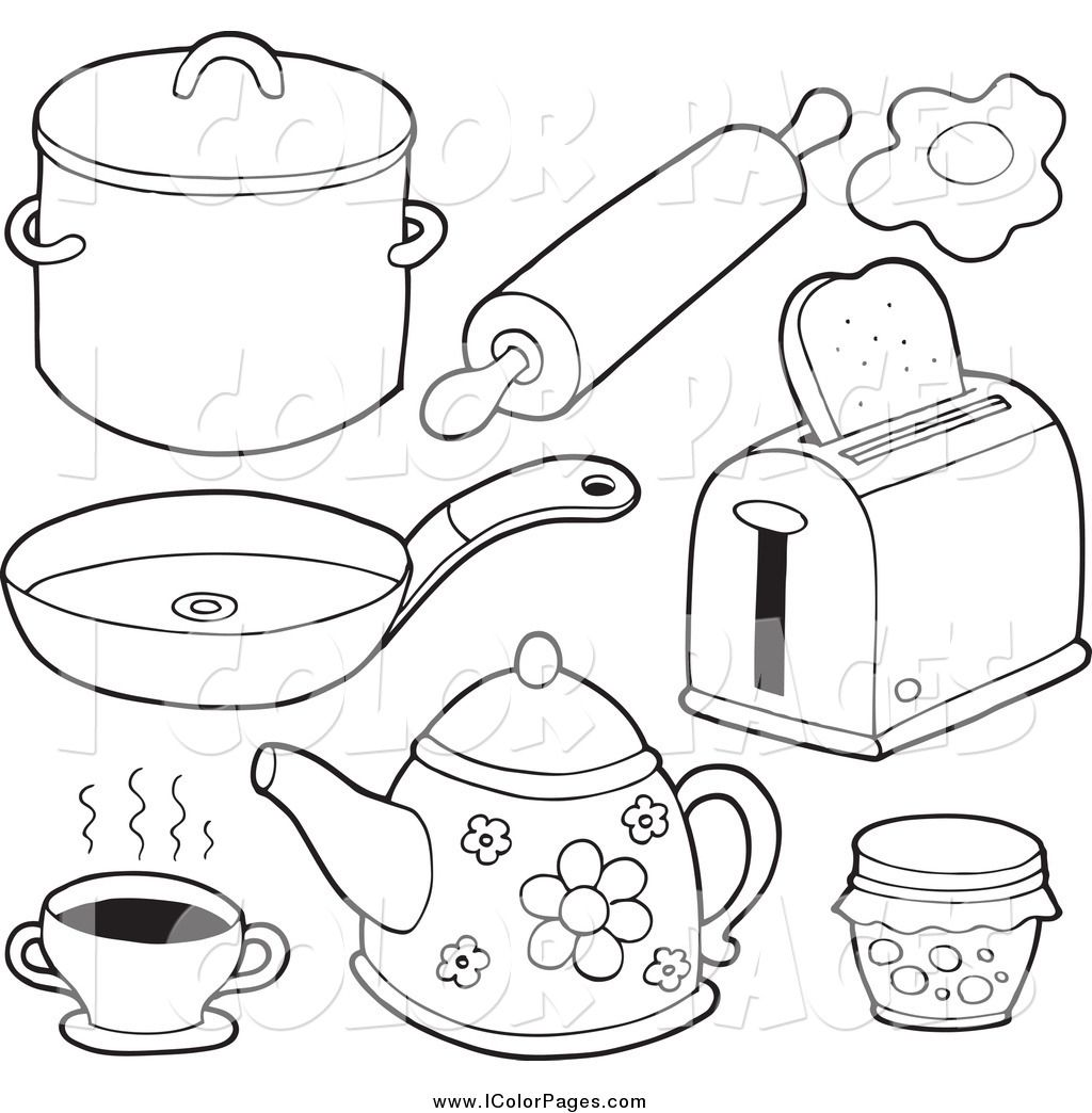 Kitchen Coloring Pages For S