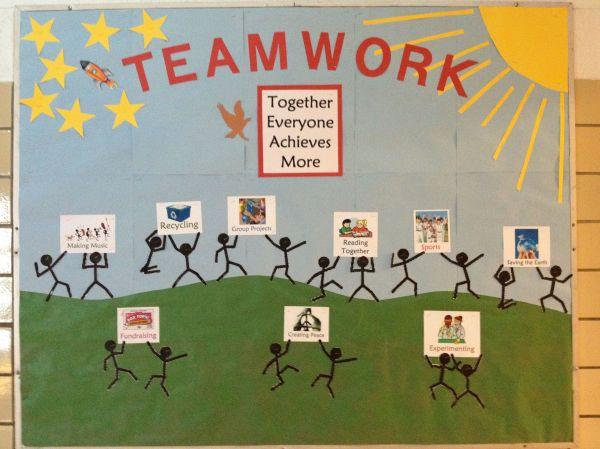 Teamwork Bulletin Board Ideas for Workplace