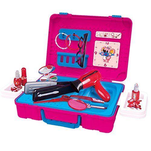 Fudaer M Dchen Kosmetik Spielzeug Schminktisch Mit Kosmetikkoffer Geburts Sgeschenk F R Kinder