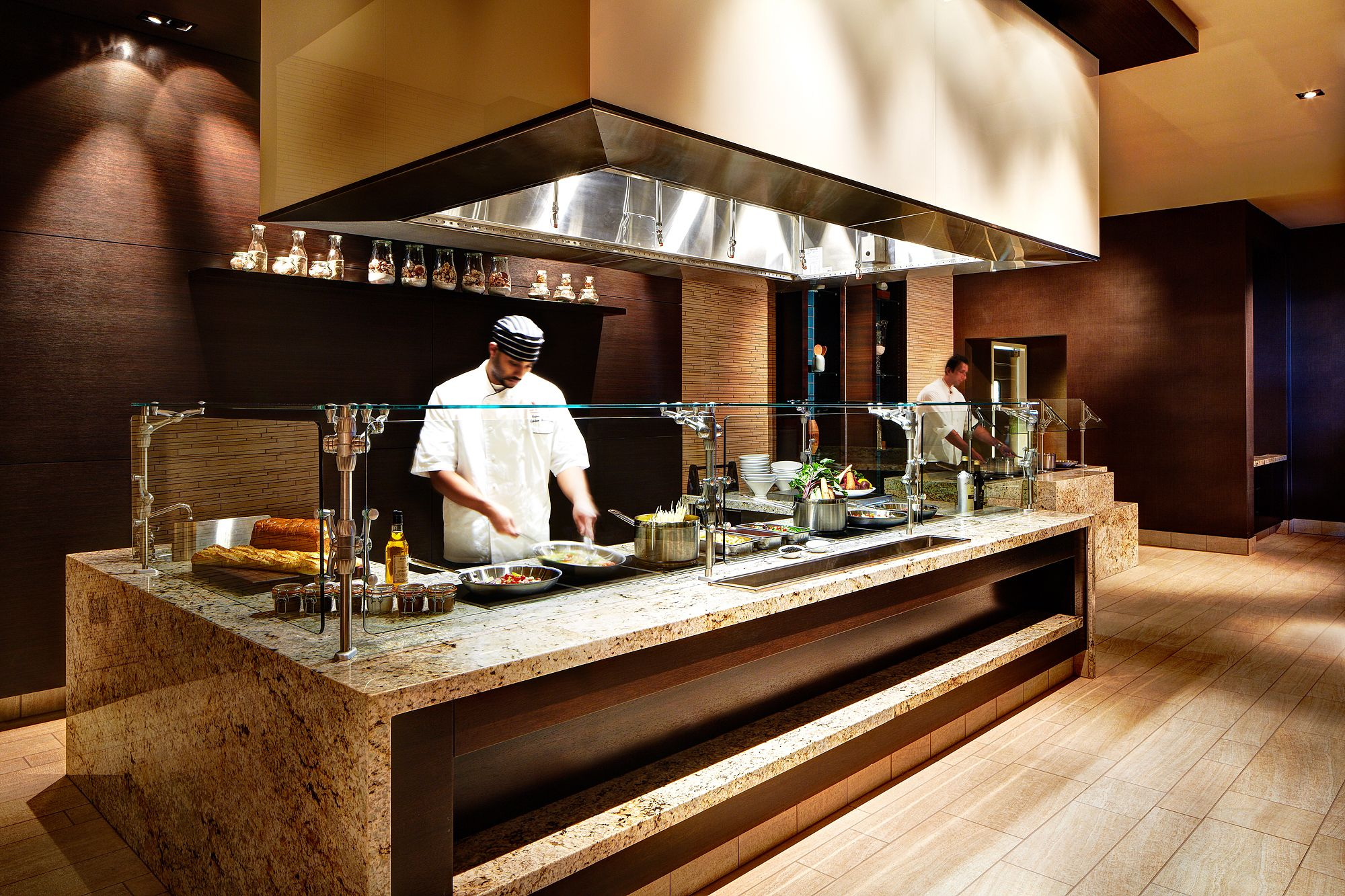 Our buffet station SanDiego Dining Restaurant Hotel