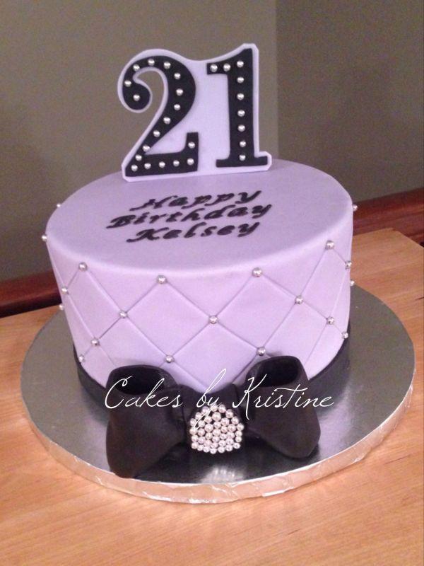 Sophisticated Birthday Cake 21st