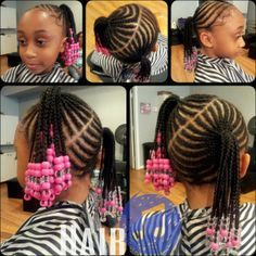 Beads And Braids Beauty Pinterest Girls Updo And On