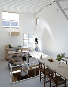 Explore japanese architecture and more also itami house by tato architects floating wood dining room table rh pinterest