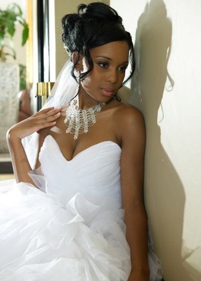 Updo Hairstyle For African American Wedding