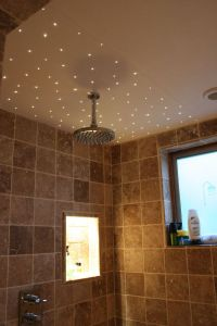 Fibre optic lighting is perfect for shower enclosures