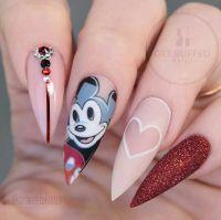 Cute Disney nail art don't like the shape though https ...