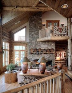 awesome rustic living room decorating ideas also wood rh pinterest