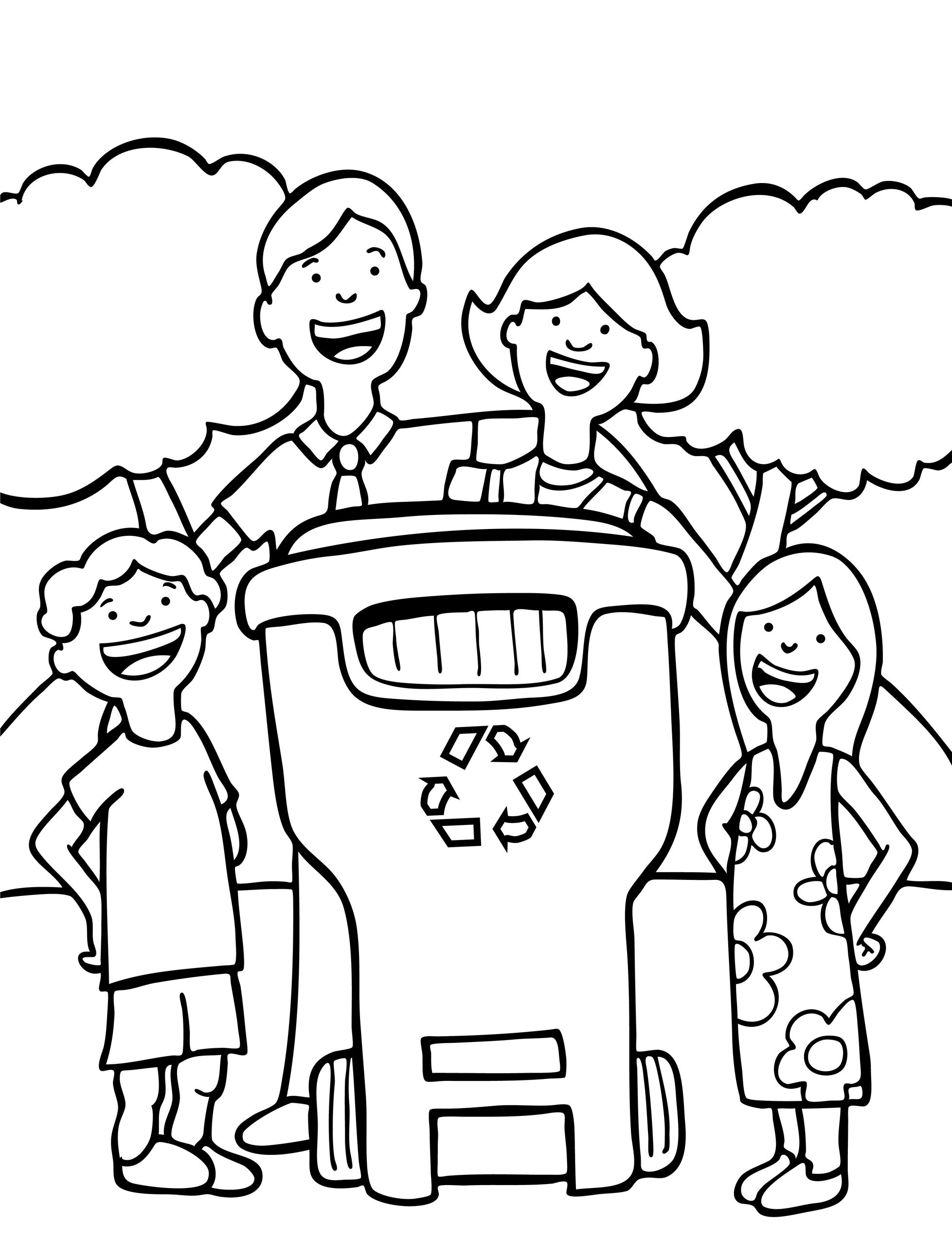 Recycling Items Coloring Pages