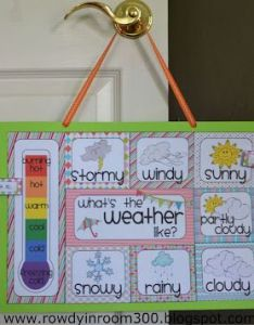 Rowdy in room free weather chart so cute also  really want to do rh pinterest
