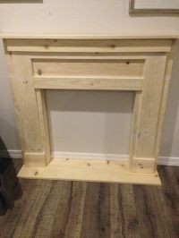 DIY Faux Fireplace & Mantel | Dark, Faux fireplace and ...