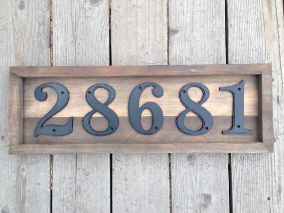 House Number Plaque Ideas 25 Best Ideas About Address Signs On