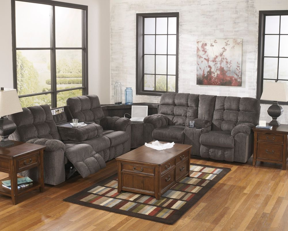 Ashley Acieona Slate Power Strip Sectional Reclining Sofa