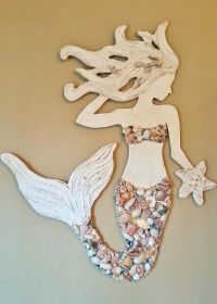 Mermaid Wall Art New Design, Wood Mermaid Vertical Style ...
