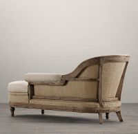 Deconstructed French Victorian Right-Arm Chaise ...