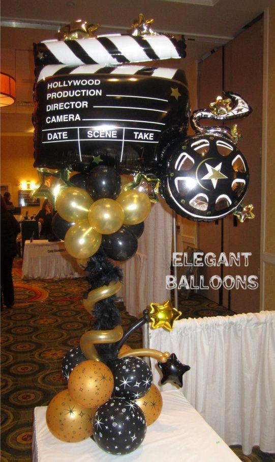 Hollywood Theme By Wwwelegantballoonscom  Bar Mitzvah