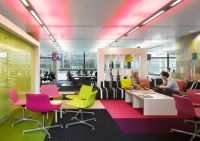 What a great office interior design. #officedesign ...