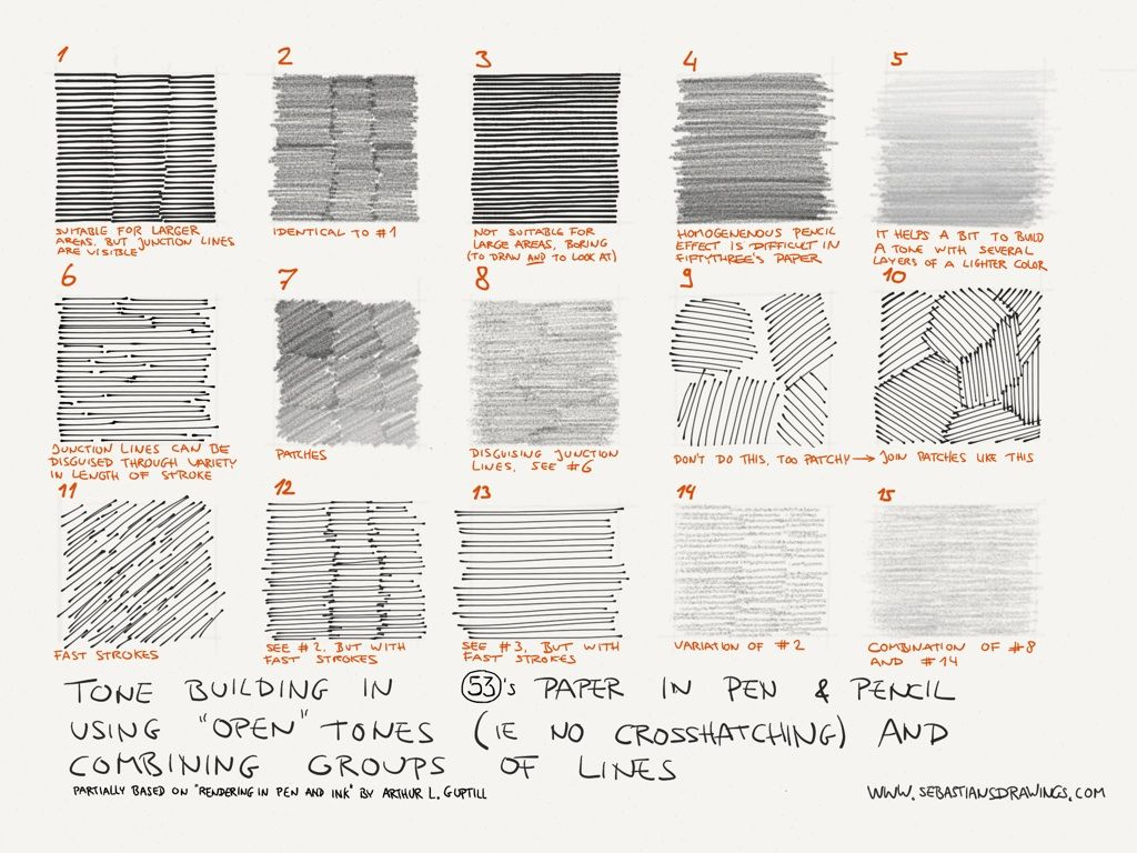 Tone Building Cheat Sheet Using The Pen And Pencil Tool