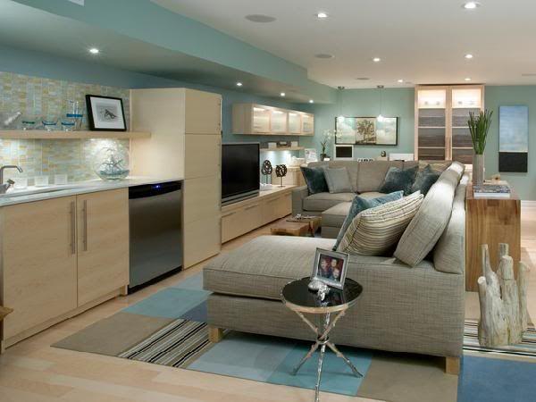 BenjaminMoore Wythe Blue Basement! Home Decorating & Design