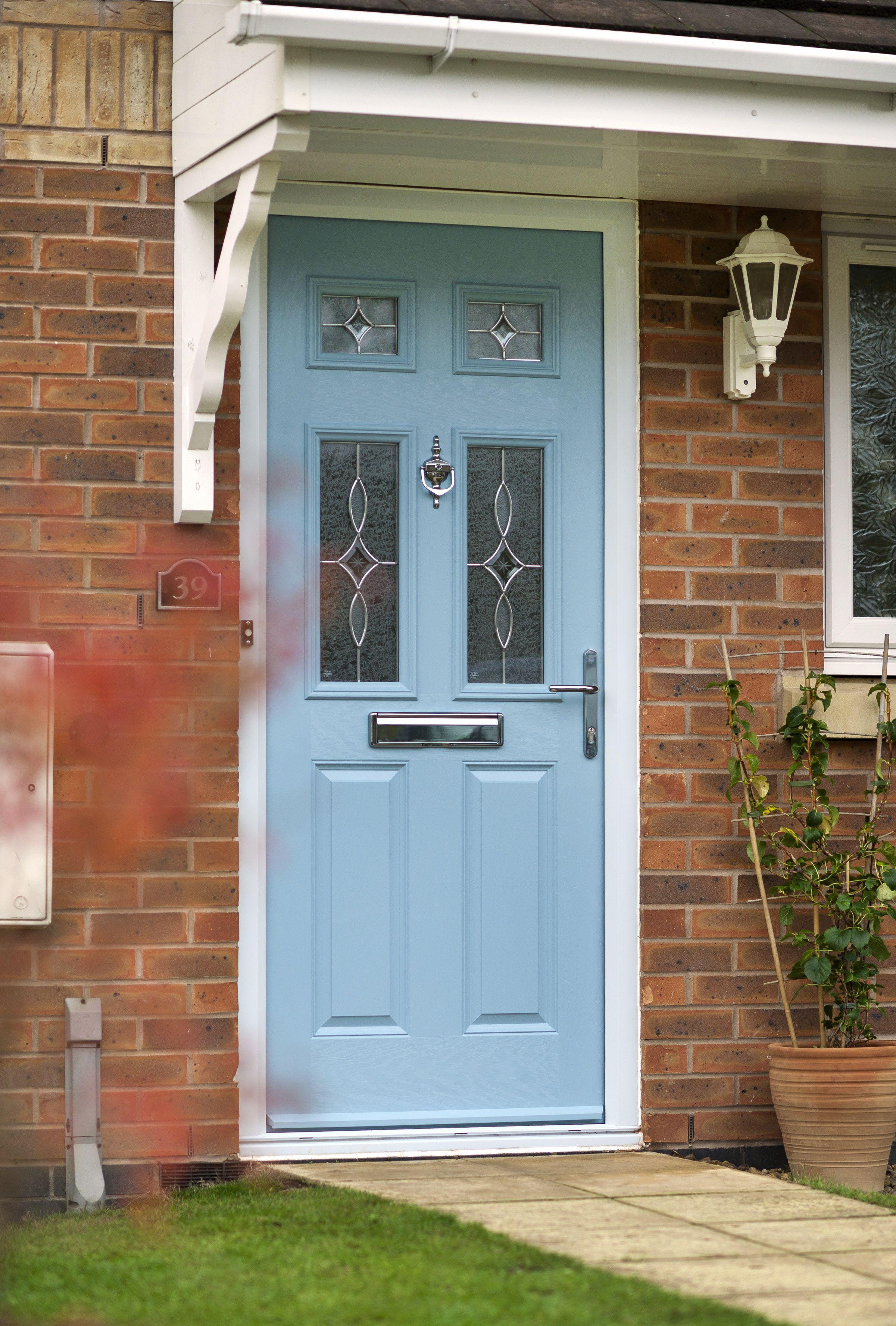 Door Stop International Contemporary Duck Egg Blue Front