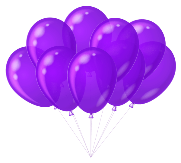 transparent purple balloons clipart