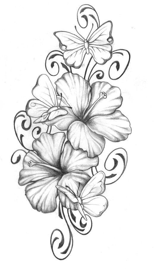 Gladiolus And Larkspur Tattoo