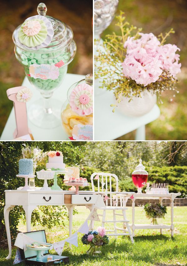 Vintage Whimsical & Pastel Summer Garden Party Hostess With
