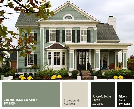 Exterior Of Homes Designs House Painting Green Exterior Paints