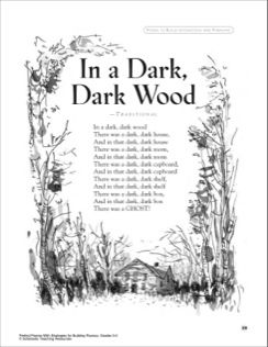 Poem: In a Dark, Dark Wood. This was one of my favorite