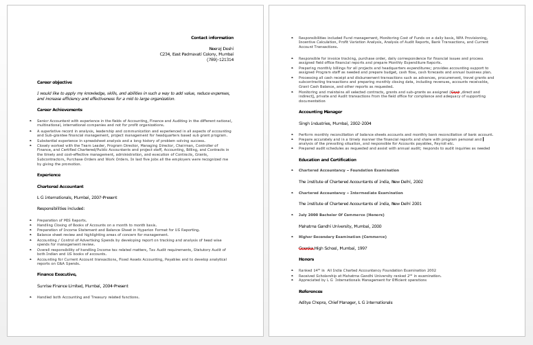 Objective For Accountant Resume